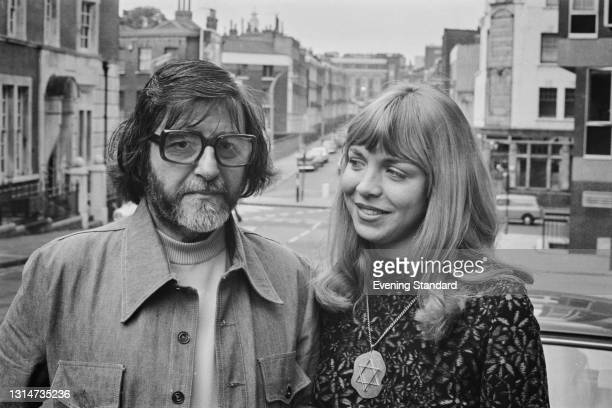 English photographer and filmmaker George Harrison Marks with his wife Toni outside Clerkenwell Magistrate's Court in London, UK, 3rd June 1974....