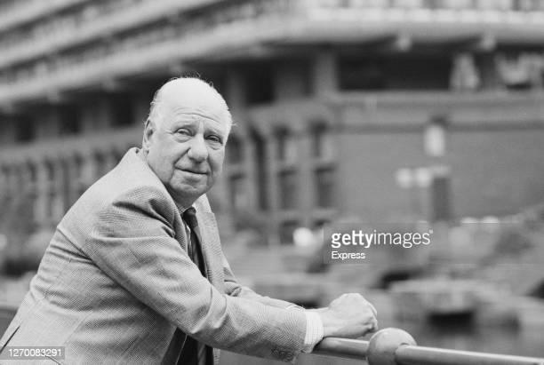 English photographer Bert Hardy in the Barbican, London, 11th June 1985.