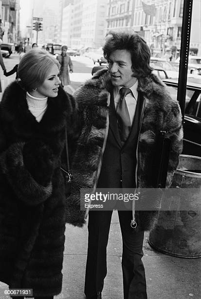 English photographer Patrick Anson 5th Earl of Lichfield and Swedish actress Britt Ekland in New York City 15th February 1970