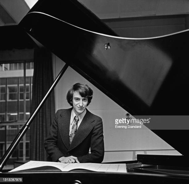 English pianist and composer Richard Blackford at the Royal College of Music in London, UK, 13th November 1973.