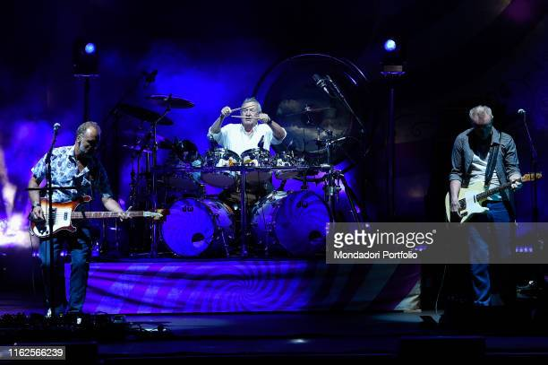 English Pink Floyd's exdrummer Nick Mason performs during the Rock in Rome summer festival at the Auditorium Parco della Musica on July 16 2019 in...