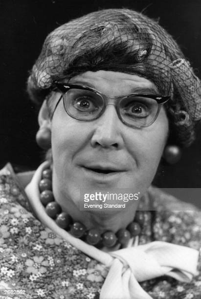 English playwright Alan Bennett plays the role of Mrs Swabb in his own play 'Habeas Corpus'.