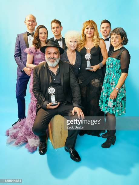 English playwright Jez Butterworth and the company of The Ferrymanincluding Laura Donnelly and Fionnula Flanagan winners of the award for Best Play...