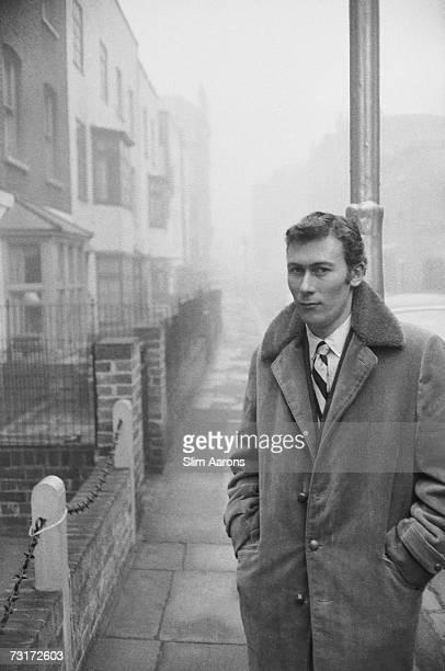 English playwright John Osborne in Chelsea 1958