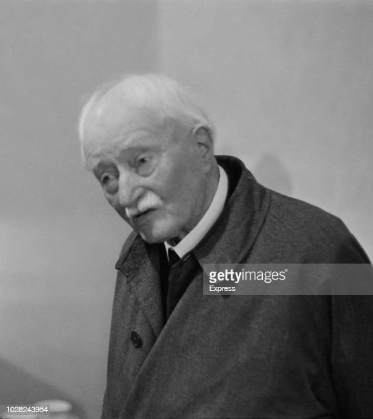 English poet and current Poet Laureate John Masefield pictured during a plaque unveiling ceremony to commemorate Irish poet W B Yeats in England on...