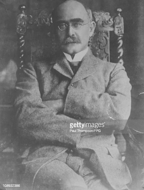 English poet and novelist Rudyard Kipling , circa 1915.