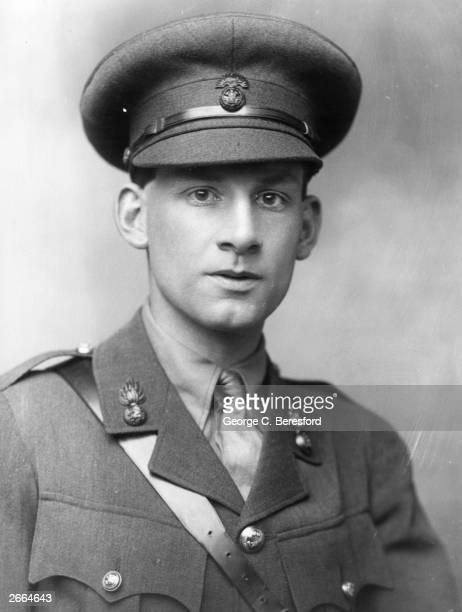 English poet and novelist Siegfried Sassoon in army uniform.