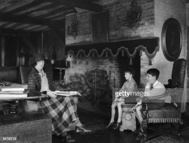English poet novelist and gardener Victoria Mary SackvilleWest wife of Sir Harold Nicolson at home in Long Barn Weald Better known as Vita she...