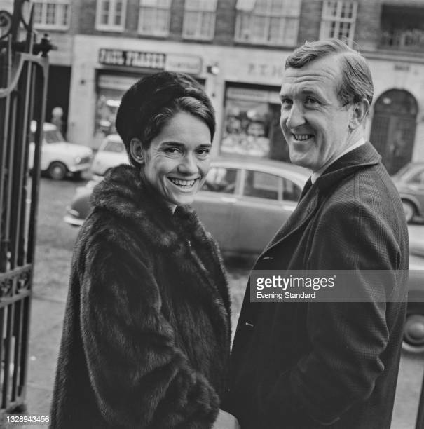 English poet P. J. Kavanagh marries Catherine Ward, UK, December 1965.