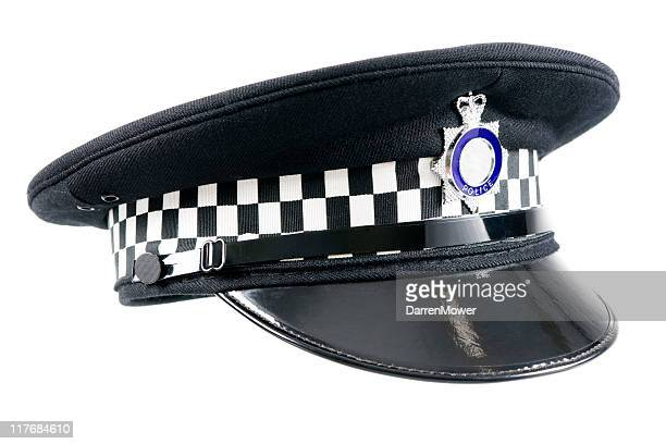 english police cap - hat stock pictures, royalty-free photos & images