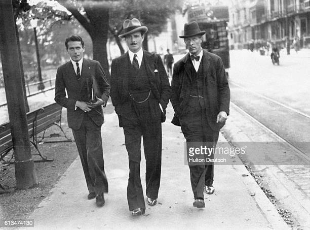 English politicain Sir Oswald Mosley attending the Labour Party Conference with English judge and politician Sir William Jowitt Brighton 1929