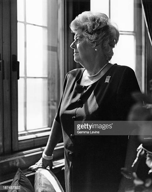 English politician Betty Boothroyd the first female Speaker of the House of Commons circa 1998