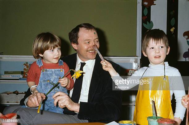 English politician Ken Livingstone Leader of the Greater London Council plays with children at a West End day centre for the underfives London 28th...
