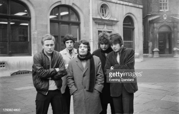 English pop and soul group Love Affair in London, UK, November 1967. From left to right, they are Steve Ellis, Lynton Guest, Rex Brayley, Maurice...