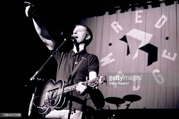 English Pop, Folk, and Alternative Rock musician Billy Bragg, Red Wedge Tour, De Montfort Hall, Leicester, 1/28/1986. During the latter half of the...