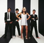English pop group blur pose in a parody of the cover of blondies picture id89514616?s=170x170