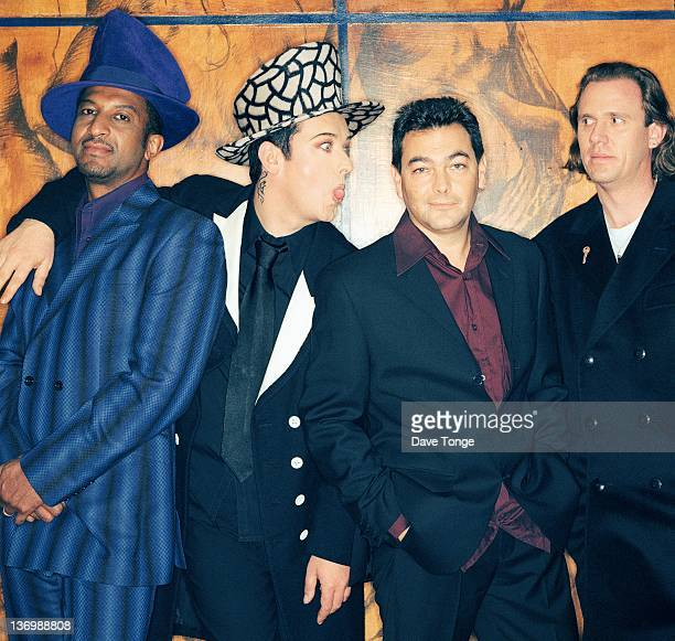 English pop group Culture Club London United Kingdom 1998 Left to right Mikey Craig Boy George Jon Moss and Roy Hay