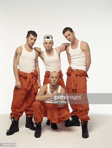 English pop group East 17 circa 1995 Clockwise from top left Terry Coldwell Brian Harvey Tony Mortimer and John Hendy