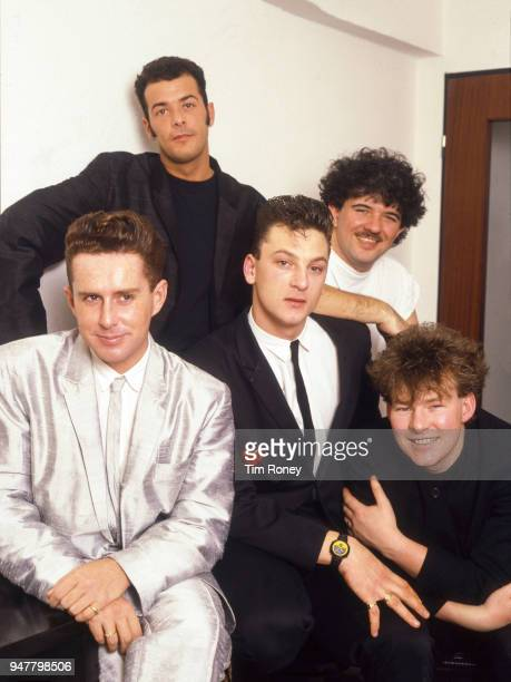 English pop group Frankie Goes To Hollywood circa 1985 They are Holly Johnson Paul Rutherford Mark O'Toole Peter Gill and Brian Nash
