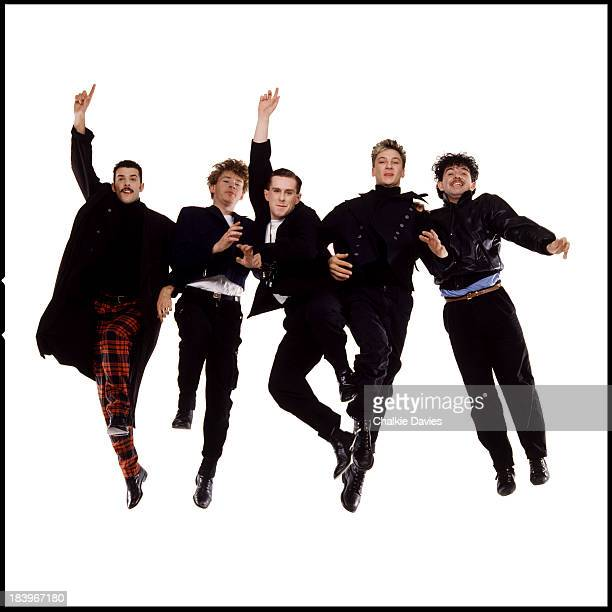 English pop group Frankie Goes To Hollywood London 1984 Left to right Paul Rutherford Brian Nash Holly Johnson Mark O'Toole and Peter Gill