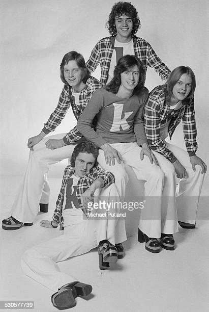 English pop group Kenny 3rd December 1974 Clockwise from lower left singer Richard Driscoll drummer Andy Walton bassist Chris Redburn guitarist Yan...