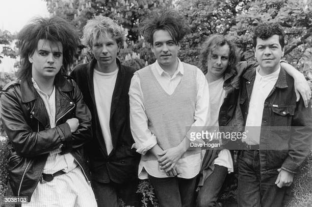 English pop group The Cure with lead singer Robert Smith centre May 1987