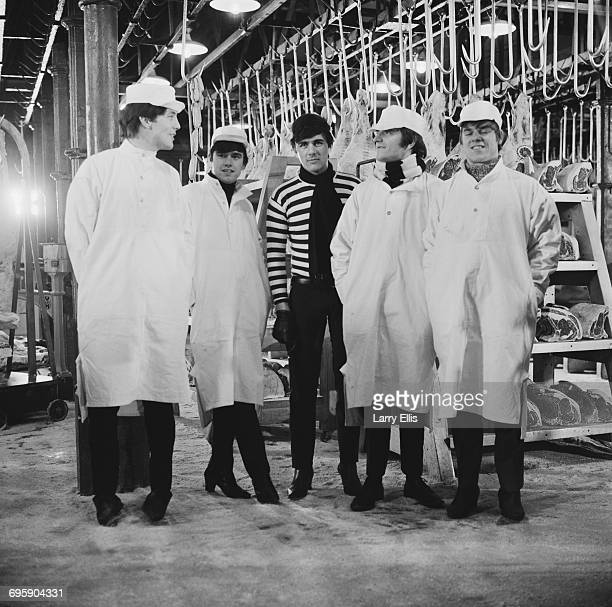 English pop group The Dave Clark Five filming 'Catch Us If You Can' directed by John Boorman UK 9th May 1965 From left to right Mike Smith Denis...