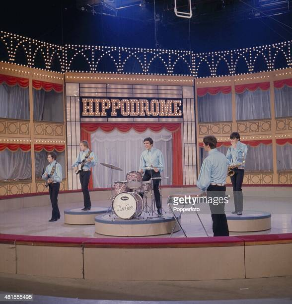 1968 English pop group The Dave Clark Five perform on the 'Hippodrome Show' on television in 1968 Left to right Rick Huxley Lenny Davidson Dave Clark...