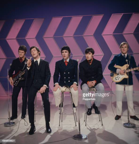 English pop group The Dave Clark Five perform on the television series 'The Morecambe And Wise Show' in 1968 Left to right Rick Huxley Mike Smith...
