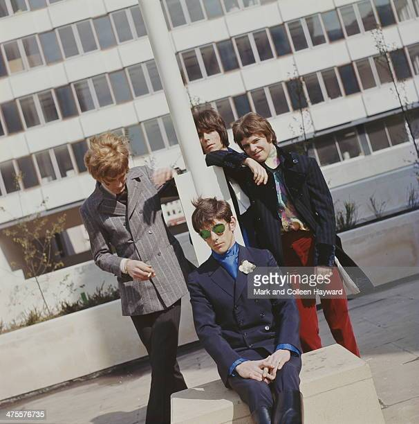 English pop group The Herd circa 1967 Clockwise from left bassist Gary Taylor keyboard player Andy Bown guitarist Peter Frampton and drummer Andrew...