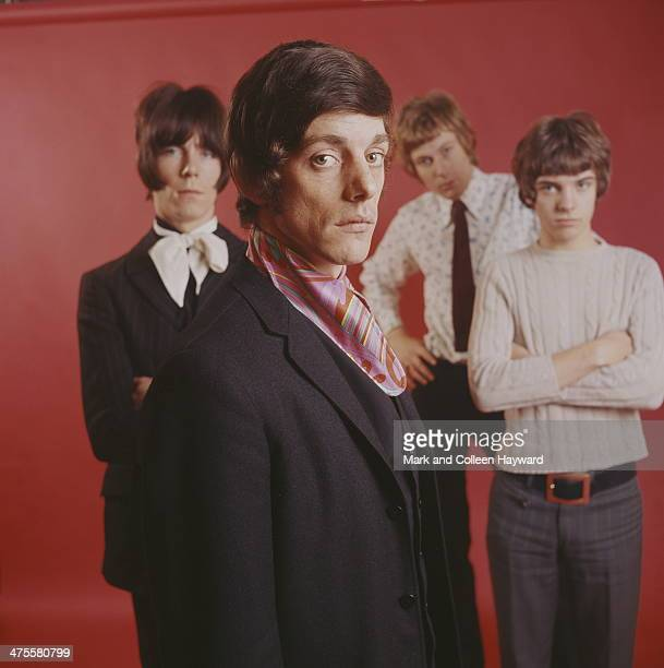 English pop group The Herd circa 1967 Left to right keyboard player Andy Bown drummer Andrew Steele bassist Gary Taylor and guitarist Peter Frampton