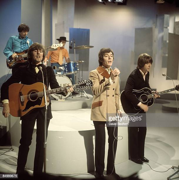 English pop group The Hollies perform on the Bobbie Gentry music series for BBC Television at Television Centre in London in August 1968 Members of...