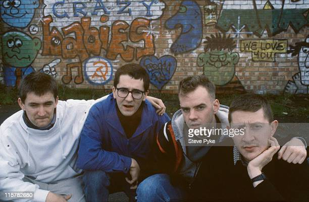 English pop group The Housemartins circa 1985 Left to right Paul Heaton Stan Cullimore Norman Cook and Dave Hemingway