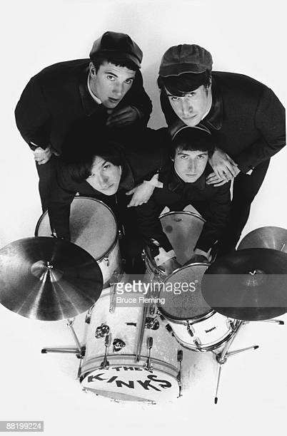 English pop group The Kinks circa 1964 Clockwise from top left drummer Mick Avory rhythm guitarist/singer Ray Davies bassist Pete Quaife and...