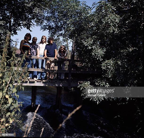 English pop group The Moody Blues 1972 Left to right John Lodge Mike Pinder Justin Hayward Ray Thomas and Graeme Edge