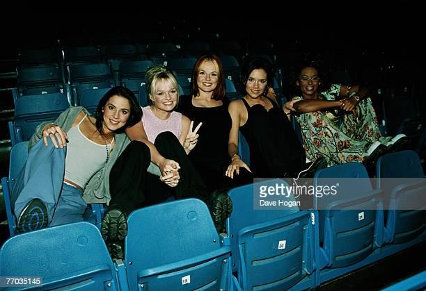 English pop group the Spice Girls circa 1998 From left to right Melanie Chisholm Emma Bunton Geri Halliwell Victoria Adams and Melanie Brown