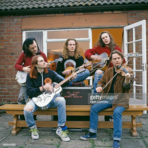 English pop group The Wonder Stuff at Rockfield Studios, near Monmouth in Wales, December 1989. The group are recording demos for the group's third...
