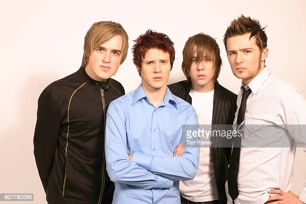 English pop rock band McFly circa 2005 From left to right they are Tom Fletcher Dougie Poynter Danny Jones and Harry Judd
