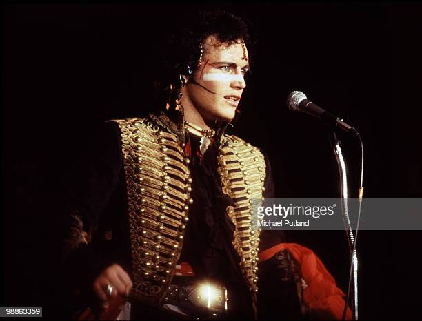 English pop singer Adam Ant of Adam And The Ants performing in New York 1981