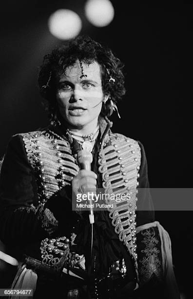 English pop singer Adam Ant performing with Adam And The Ants 1981
