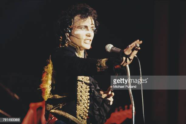 English pop singer Adam Ant performs live on stage with Adam And The Ants 1981