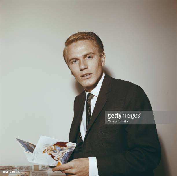 English pop singer Adam Faith receives an early Christmas card September 1961