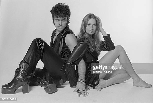 English pop singer Alvin Stardust with a friend February 1975