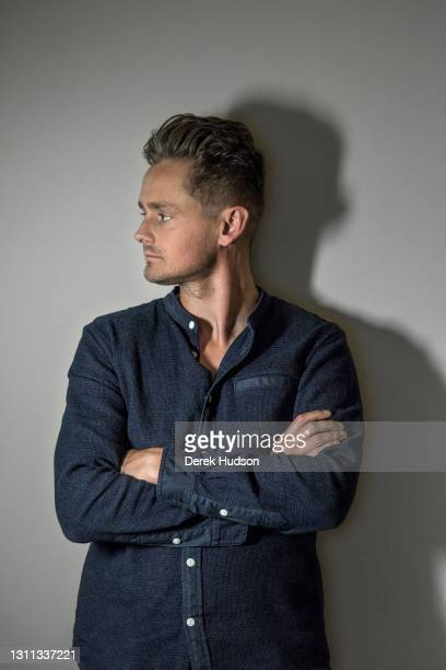 English pop singer and musician Tom Chaplin pictured during a photo session to promote his solo album The Wave.