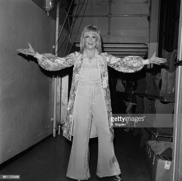 English pop singer and record producer Dusty Springfield at the London Palladium UK 29th January 1973