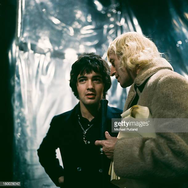 English pop singer Barry Ryan with presenter Jimmy Savile on the BBC TV show 'Top Of The Pops' London 13th February 1968