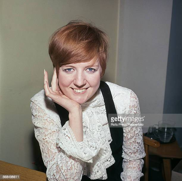 English pop singer Cilla Black at Kensington House Richmond Way London 8th March 1968 She has been helping to count the votes from BBC television...