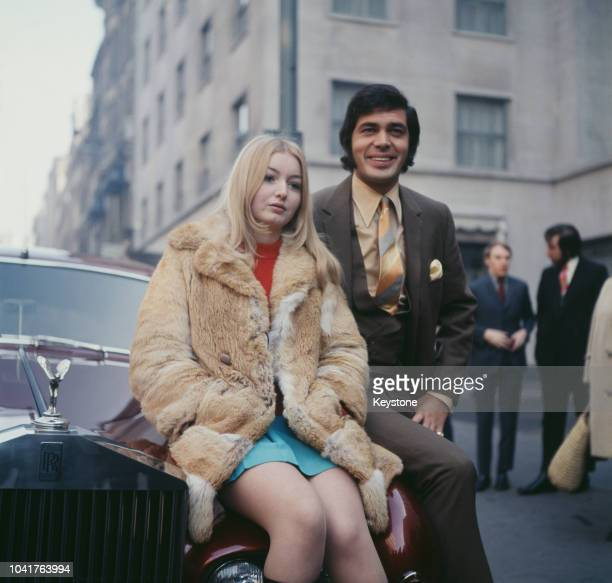 English pop singer Engelbert Humperdinck with Welsh folk singer Mary Hopkin outside the Westbury Hotel in London 7th March 1969 They are leaving on a...
