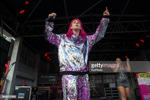 English pop singer Girli performs live at APE Presents festival at Victoria Park London on June 1 2018 Milly Toomey better known by the stage name...