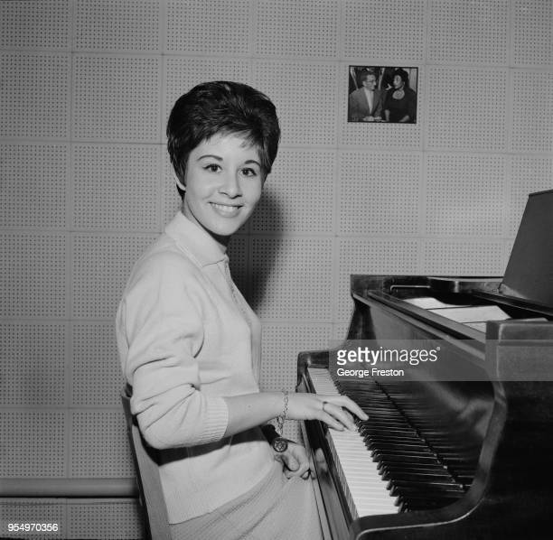 English pop singer Helen Shapiro at the piano October 1961